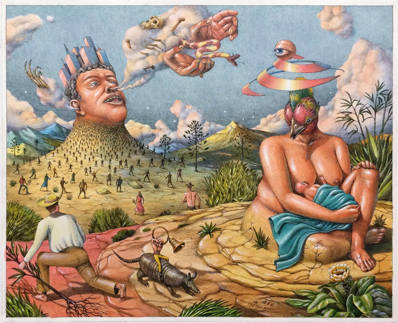 Mother Earth and Urbanization' drawing – AEC Interesni Kazki